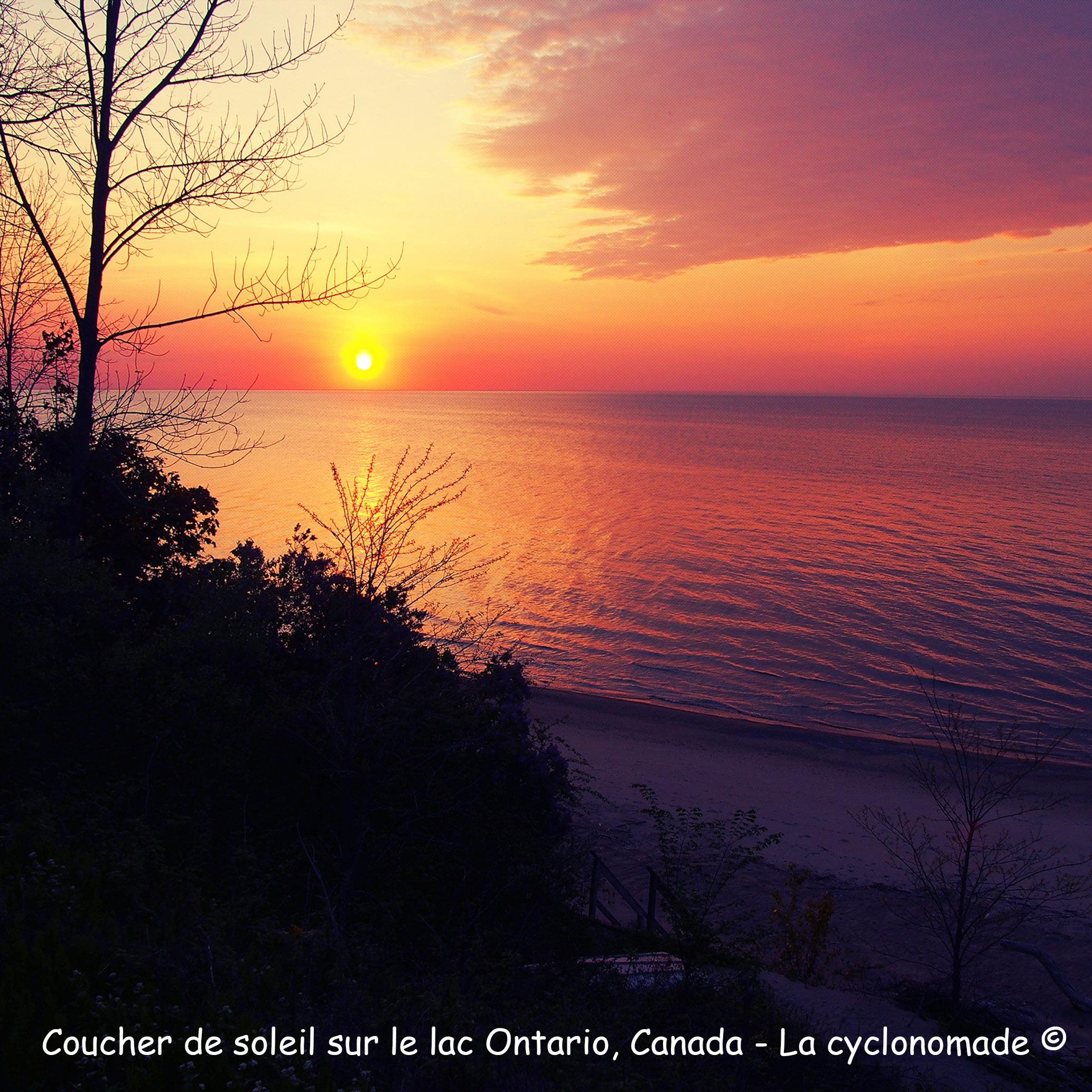 Coucher de soleil sur le lac Ontario