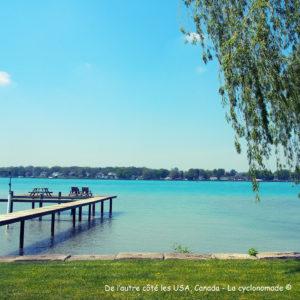 Blue waters, frontière avec les USA - Les États-Unis à vélo