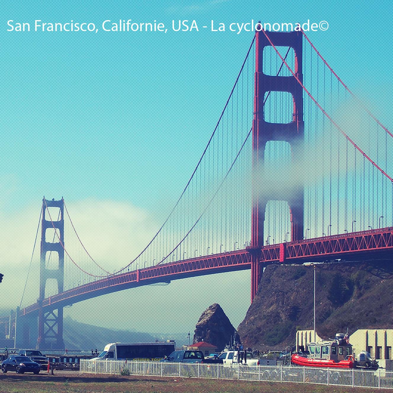 Le Golden Gate Bridge- côte ouest à vélo