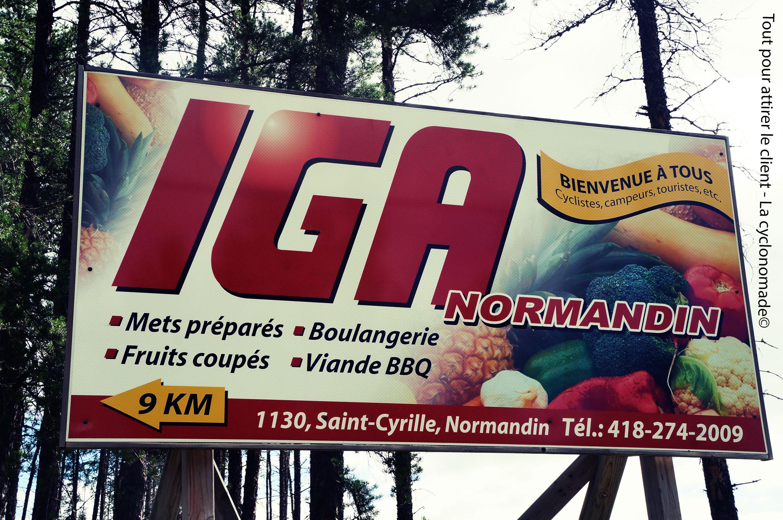 Publicité pour cyclistes