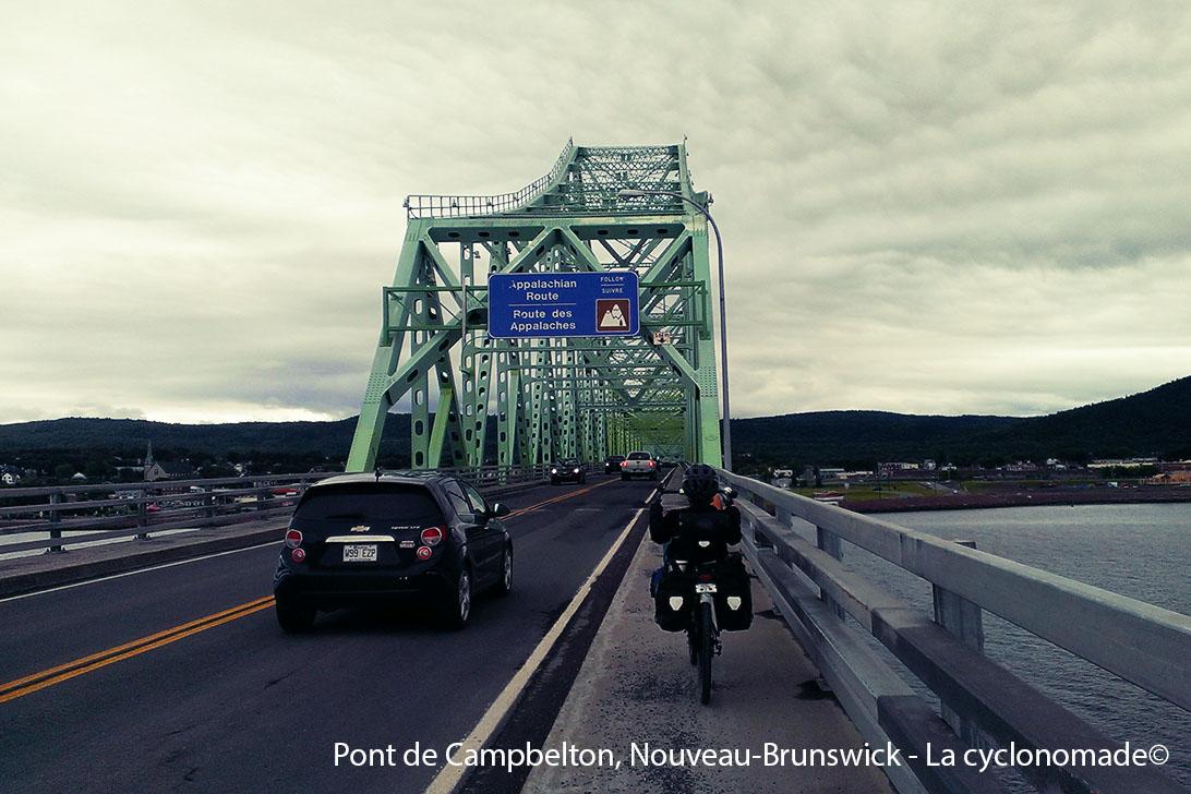 Entrée au Nouveau-Brunswick à vélo