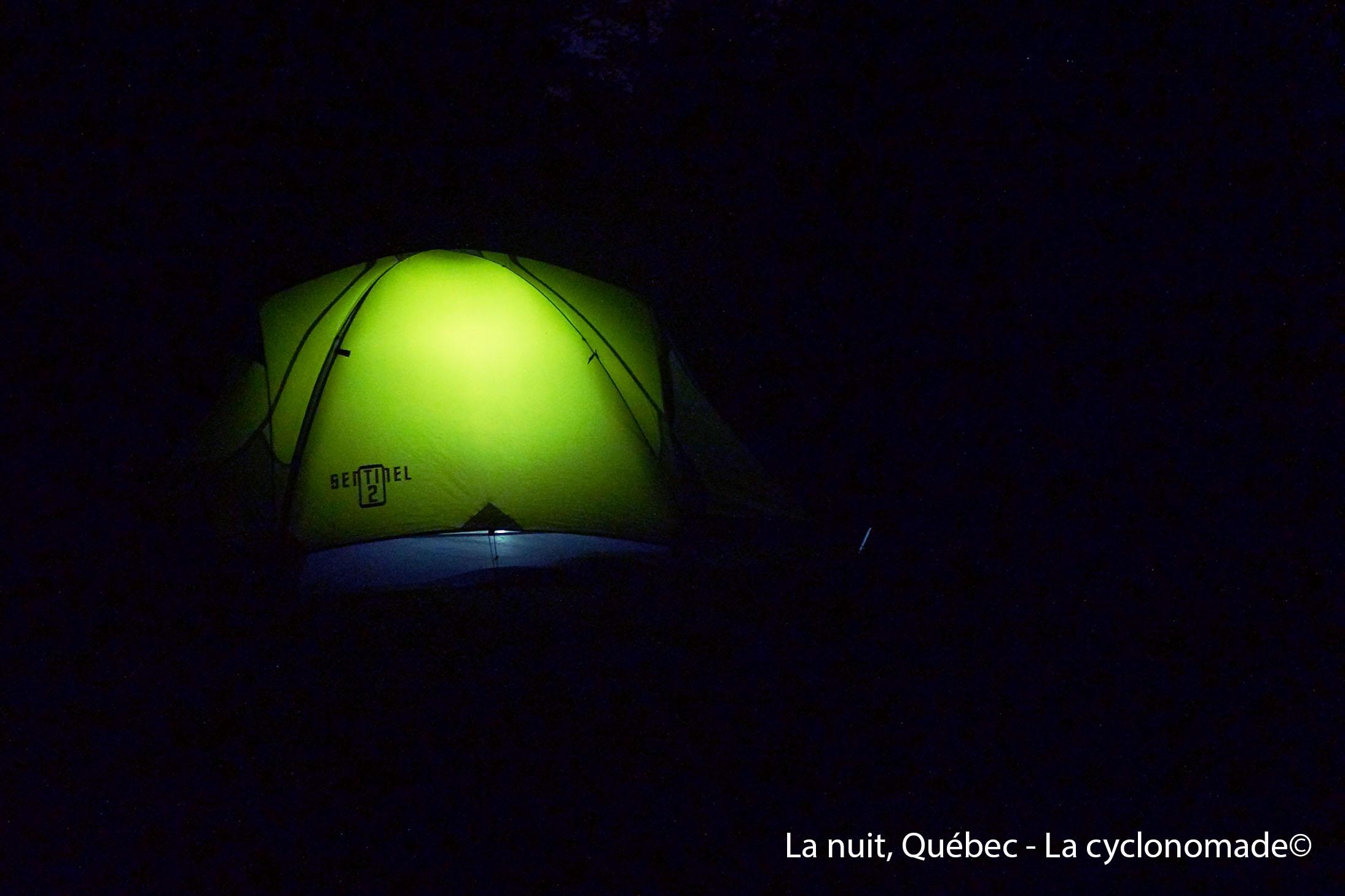 Camping sauvage, Québec