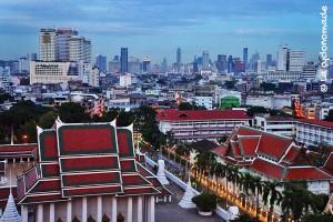 Bangkok vue de la montagne d'or