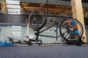 Mécanique vélo à Ushuaia