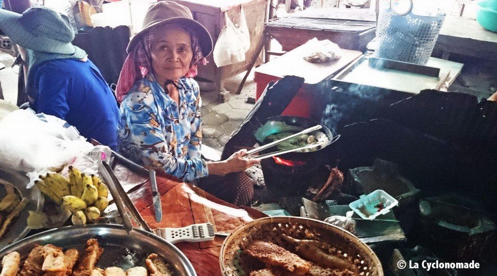marché de kep - cambodge - cambodge à vélo