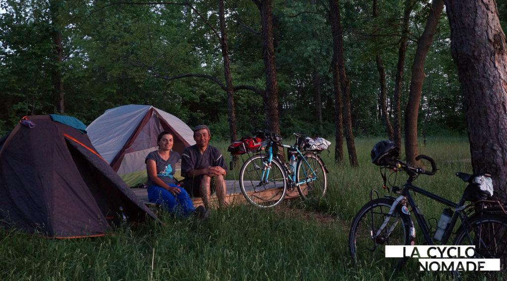 camping sauvage - ohio à vélo - usa à vélo - états-unis à vélo - cyclotourisme - voyager à vélo - voyage vélo - la cyclonomade - véloroute des monarques