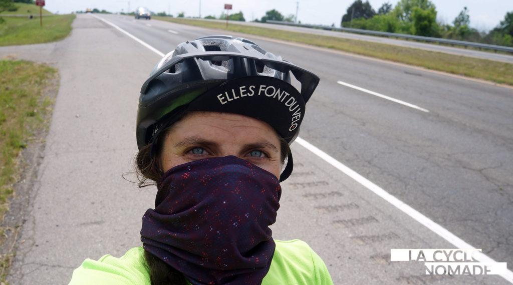masque anti pollution - wair - voyage cyclotourisme - cyclotourisme - voyage à vélo - la cyclonomade