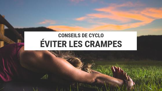 récupération sportive - crampes - vélo - éviter les crampes - bien récupérer - cyclotourisme - voyage vélo - voyager à vélo - la cyclonomade