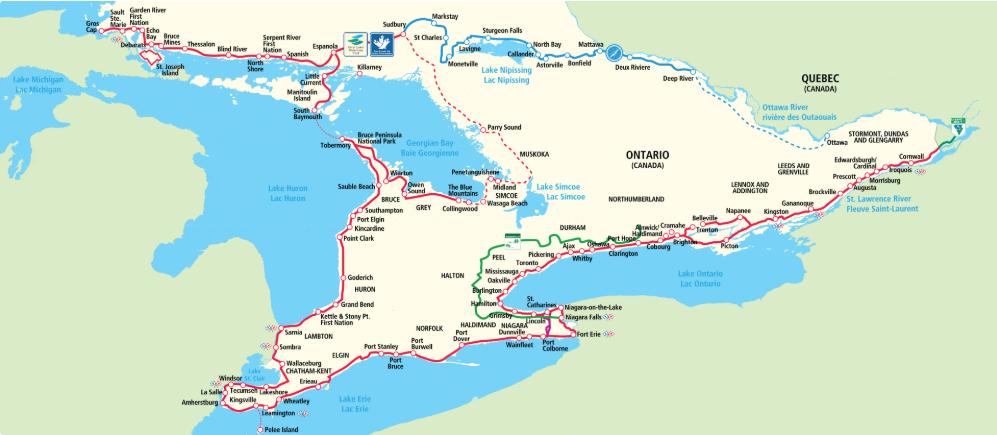 Waterfront Trail - cyclotourisme - voyage vélo - la cyclonomade - voyage à vélo