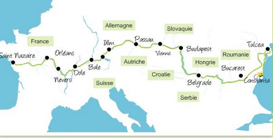 eurovélo 6 parcours - véloroutes du monde - la cyclonomade