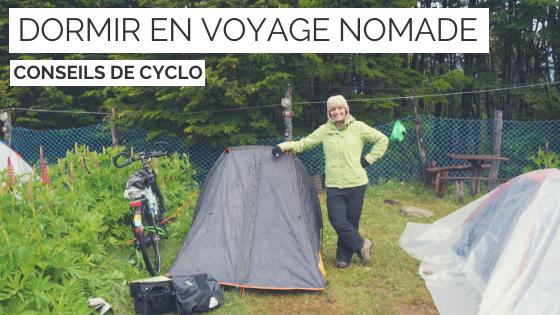 Dormir en voyage cyclotourisme - la cyclonomade