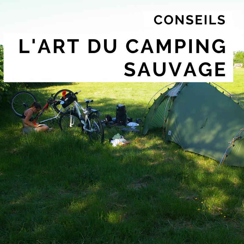 dormir cyclotourisme - camping sauvage - la cyclonomade