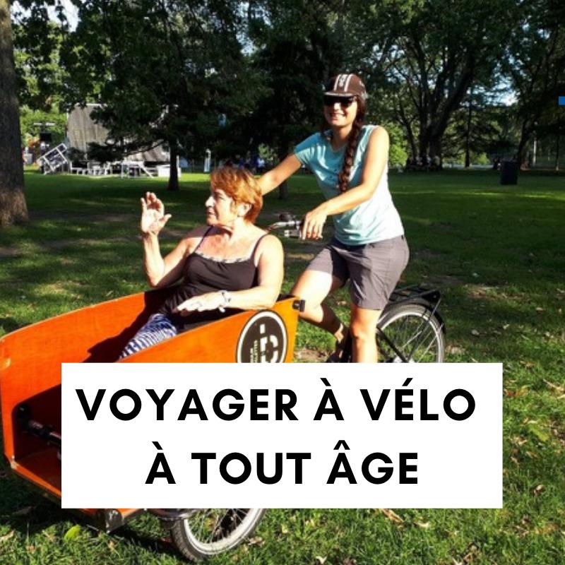 conférence cyclotourisme - vélo à tout age - voyager à vélo - 3e age - vélo et 3e age - vélo personne agée