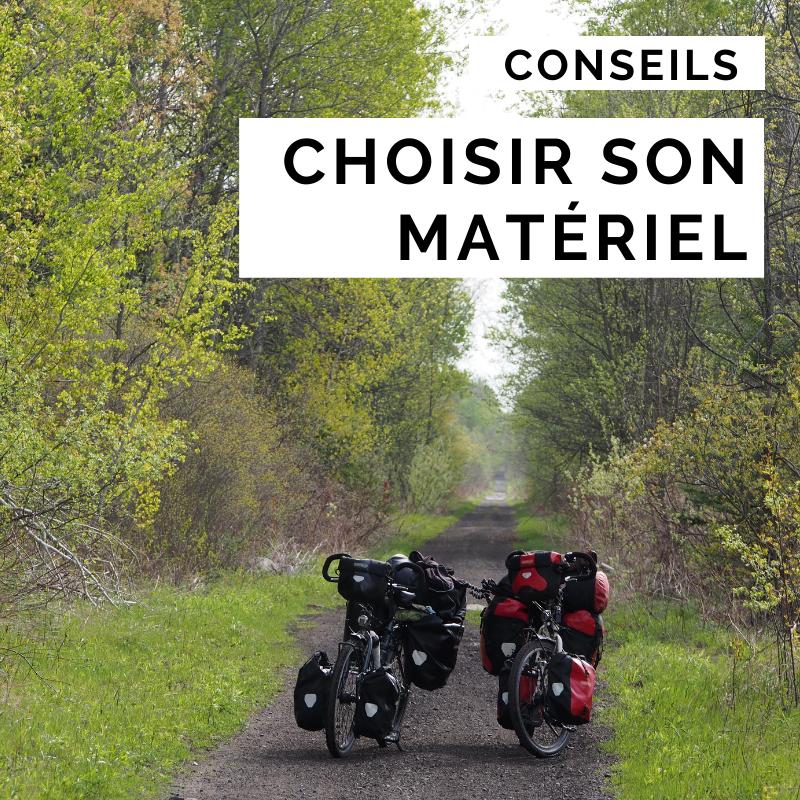choisir son matériel cyclotourisme - matériel cyclotourisme - voyager à vélo - la cyclonomade