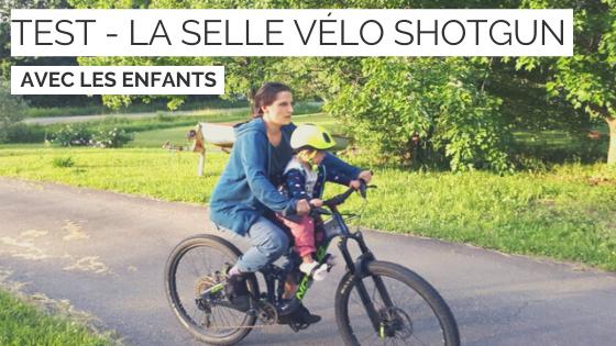selle vélo enfant - shotgun - cyclotourisme - voyage à vélo - la cyclonomade